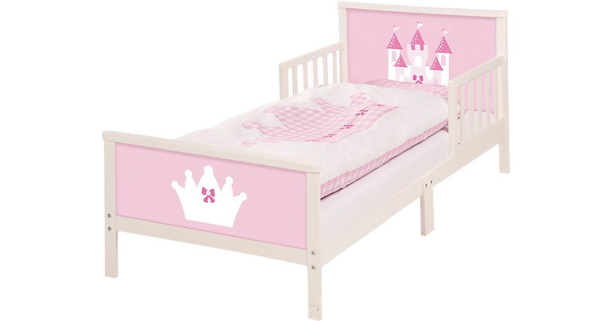 Kinderbett Prinzessin, Schloss, 70 x 140 cm rosa