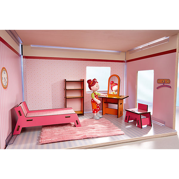 haba 300510 puppenhaus little friends m bel kinderzimmer. Black Bedroom Furniture Sets. Home Design Ideas
