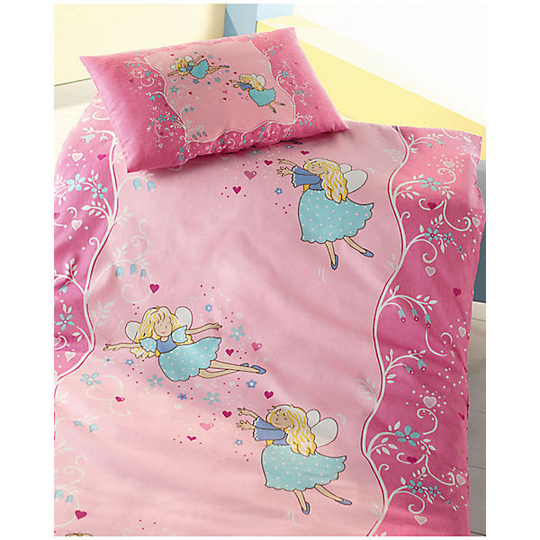 kinderbettw sche fee biber rosa 100 x 135 cm mytoys. Black Bedroom Furniture Sets. Home Design Ideas