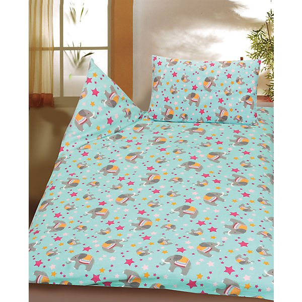 kinderbettw sche elefant cretonne 100 x 135 cm mytoys. Black Bedroom Furniture Sets. Home Design Ideas