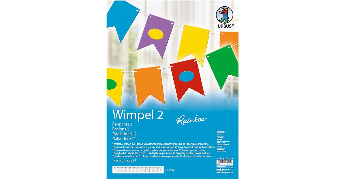 Kreativset Wimpel 2 Rainbow