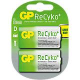 "Akku 2-er Pack D/Mono/LR 20 ""Recyko+"""