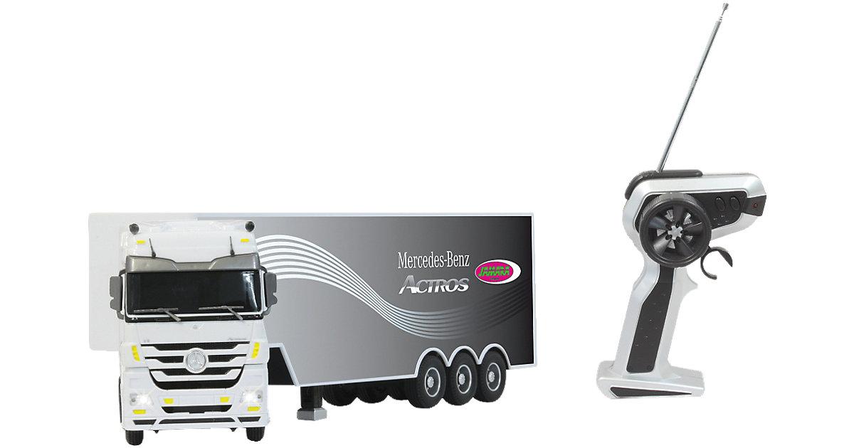 RC Fahrzeug Mercedes Actros 1:32 weiß 3 Kanal 27Mhz