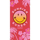 Strand- / Badetuch Smiley Hawaii Rose, 75 x 150 cm