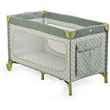 Манеж-кровать Martin, Happy Baby, серый/оливковый