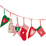Textil-Adventskalender Girlande