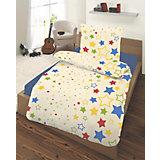 Kinderbettwäsche Sterne, Biber, 135 x 200 cm