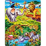 Rahmenpuzzle 18 Teile Tierische Safari