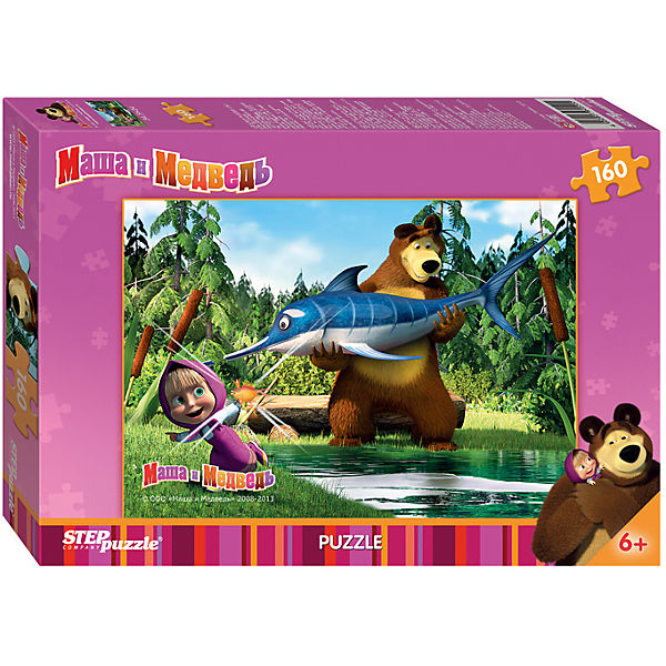"Пазл ""Маша и Медведь"", 160 деталей, Step Puzzle"