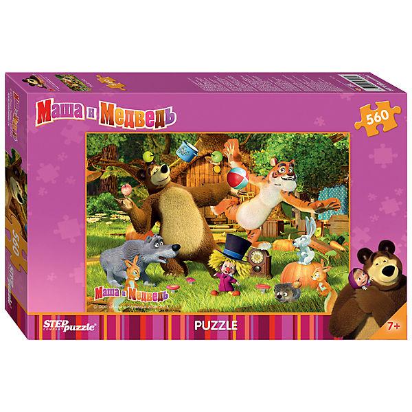 Пазл Маша и Медведь, 560 деталей, Step puzzle
