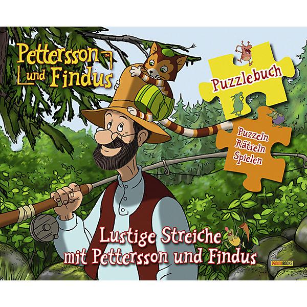 pettersson und findus puzzlebuch lustige streiche mit. Black Bedroom Furniture Sets. Home Design Ideas