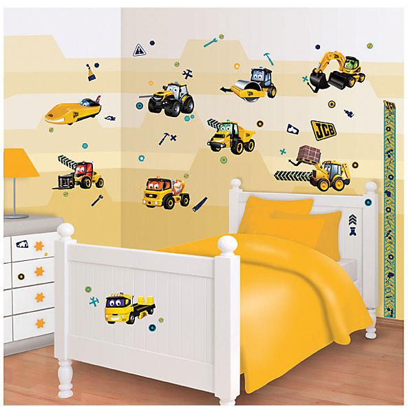 wandsticker baustelle 65 tlg walltastic mytoys. Black Bedroom Furniture Sets. Home Design Ideas