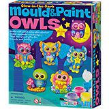 Gießset Magnete & Anstecker Mould & Paint Glow Eulen