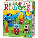 Bausatz Wind Up Roboter, 4 Stück