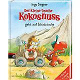Der kleine Drache Kokosnuss geht auf Schatzsuche, 2 Bände, mit Audio-CD