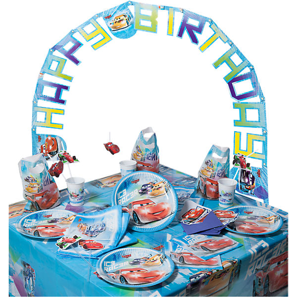 Partyset Disney Cars Ice, 56-tlg.