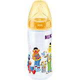 Weithals Flasche First Choice+, PP, 300 ml, Gr. 2 M, Sesamstrasse, gelb