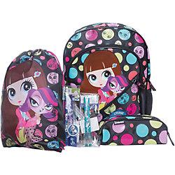 Школьный набор (Эргономичный ранец, мешок для обуви, пенал с наполнением), Littlest Pet Shop