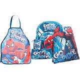 Школьный набор Человек-Паук (Эргономичный ранец, мешок для обуви, пенал, фартук, кошелек)