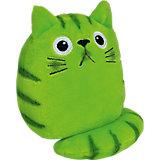 Dicke Katze Plüsch Wasabi, 16 cm