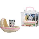 """Набор """"Младенец в пластиковом сундучке"""" (котенок в люльке), Sylvanian Families"""