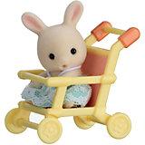 """Набор """"Младенец в пластиковом сундучке """" (кролик в коляске), Sylvanian Families"""
