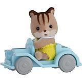 """Набор """"Младенец в пластиковом сундучке """" (бельчонок на машине), Sylvanian Families"""