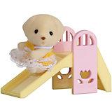 """Набор """"Младенец в пластиковом сундучке """" (собачка на горке), Sylvanian Families"""