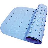 Антискользящий коврик для ванны 34,5х76 см, голубой