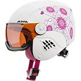 Skihelm Carat Visor white-pink