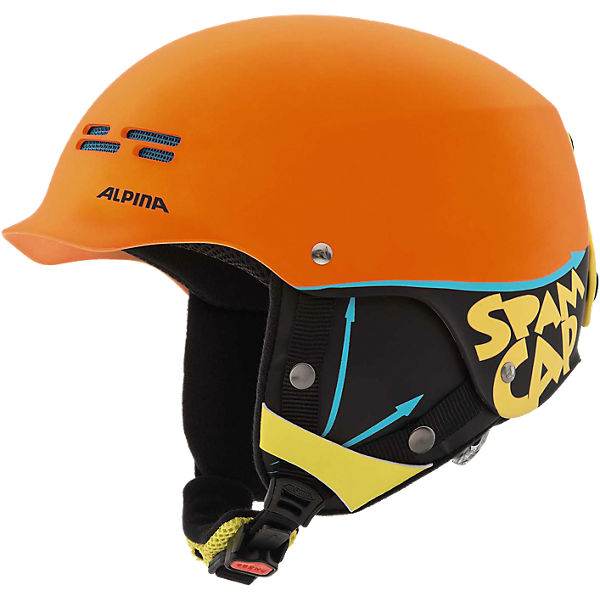 Skihelm Spam Cap Jr. crazy-orange matt