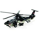Вертолет, инерционный, со светом и звуком, металл, ТЕХНОПАРК