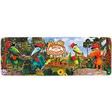 Деревянная рамка-вкладыш, 29*10 см, Поезд динозавров, Играем вместе