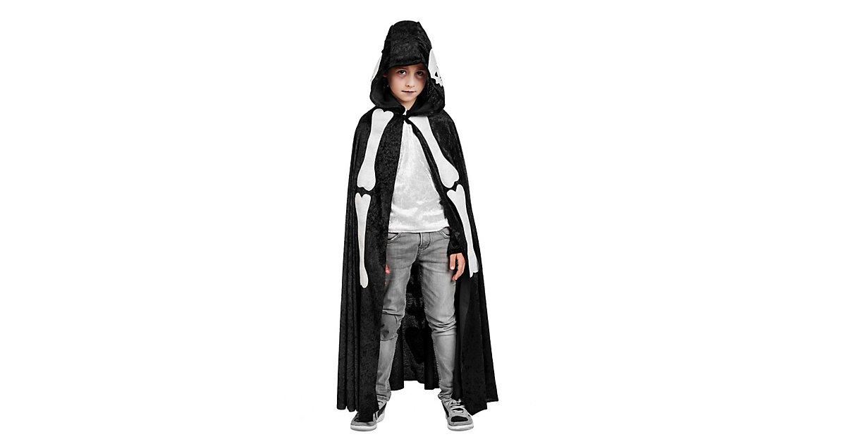 Kostüm Cape Skelett Gr. 152/158 Jungen Kinder