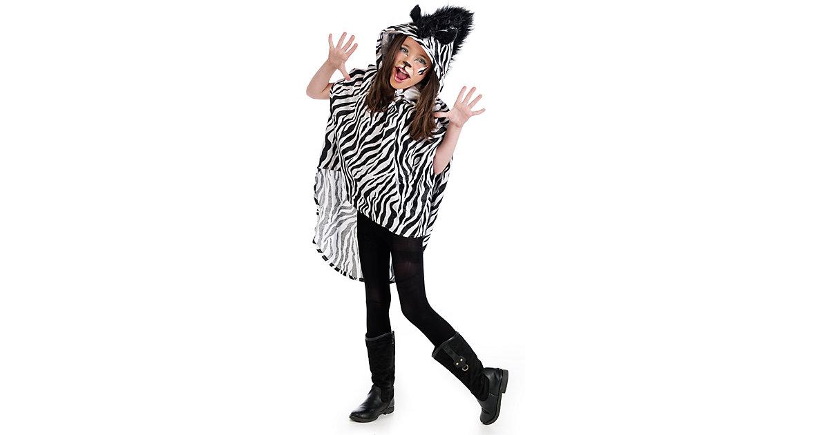 Kostüm Poncho Zebra Gr. 152/158 Mädchen Kinder