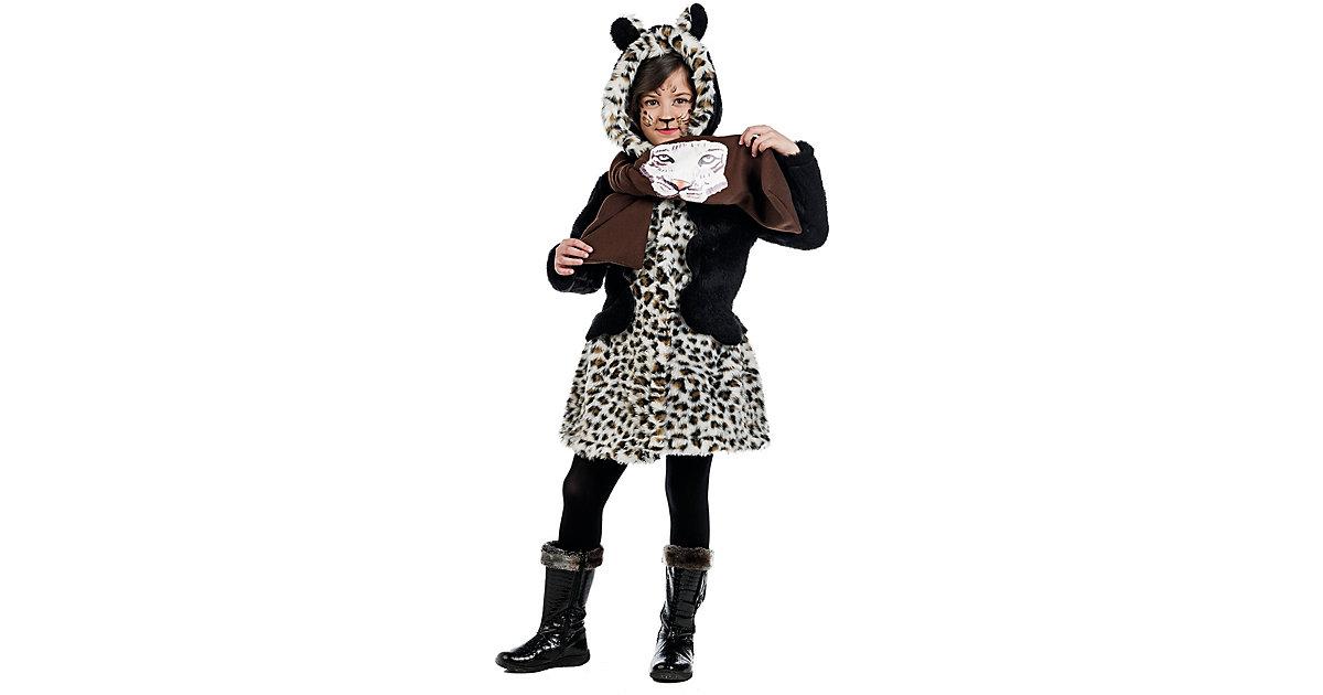 Kostüm Mantel und Schal Leopard Gr. 152/158 Mädchen Kinder