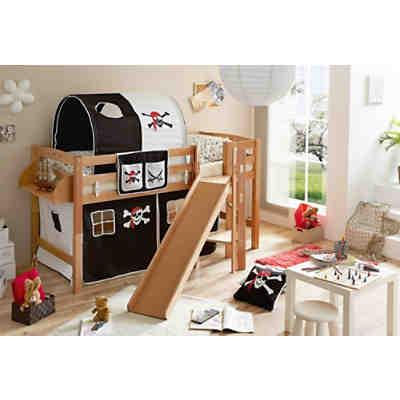 hochbett mit rutsche g nstig online kaufen mytoys. Black Bedroom Furniture Sets. Home Design Ideas