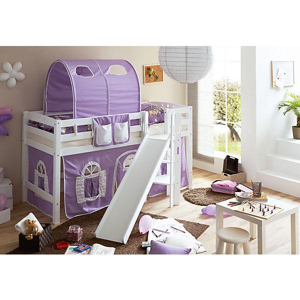 spielbett tino buche massiv wei lackiert lila wei ticaa mytoys. Black Bedroom Furniture Sets. Home Design Ideas