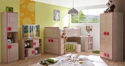 Komplett Jugendzimmer Camo, 4-tlg., (Hochbett, Kleiderschrank ...