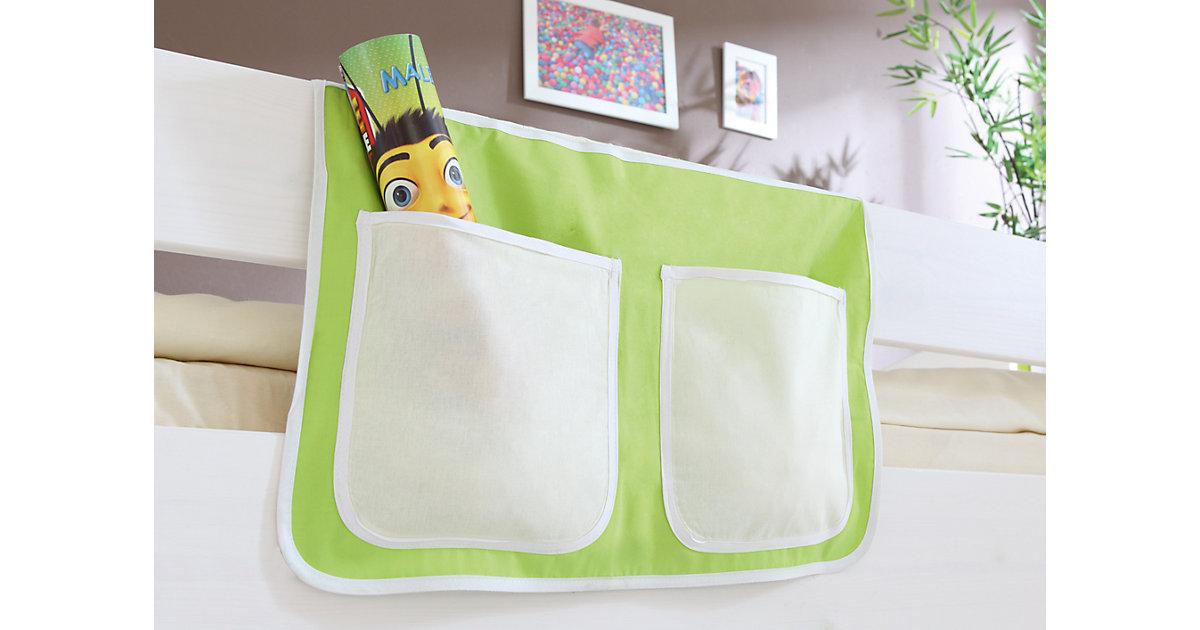 Bett-Tasche Hoch- und Etagenbetten, beige-grün Gr. 30 x 50 Kinder
