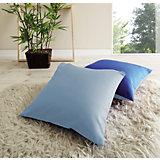 Kissen-Set 2-tlg., 40 x 40 cm, hellblau-dunkelblau