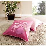 Kissen-Set 2-tlg., 40 x 40 cm, Pferde pink