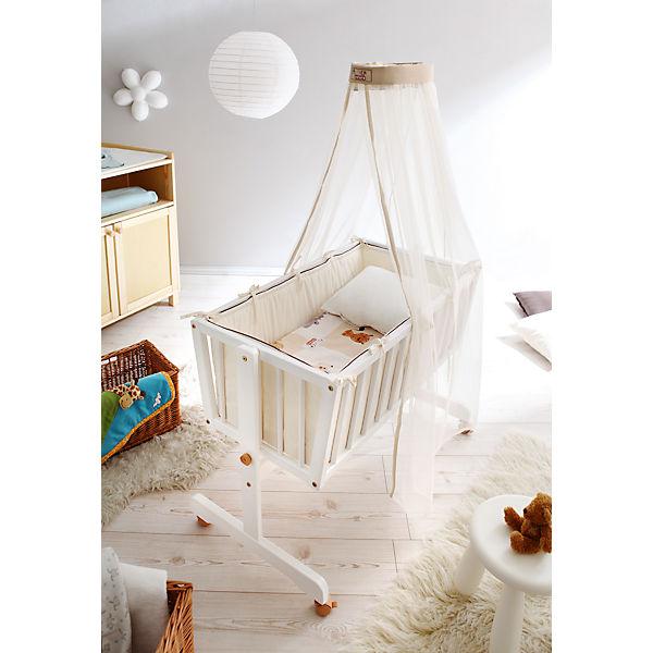 babywiege croco 4 tlg wiege inkl babymatratze himmelstange 4 tlg bettw sche set kiefer. Black Bedroom Furniture Sets. Home Design Ideas