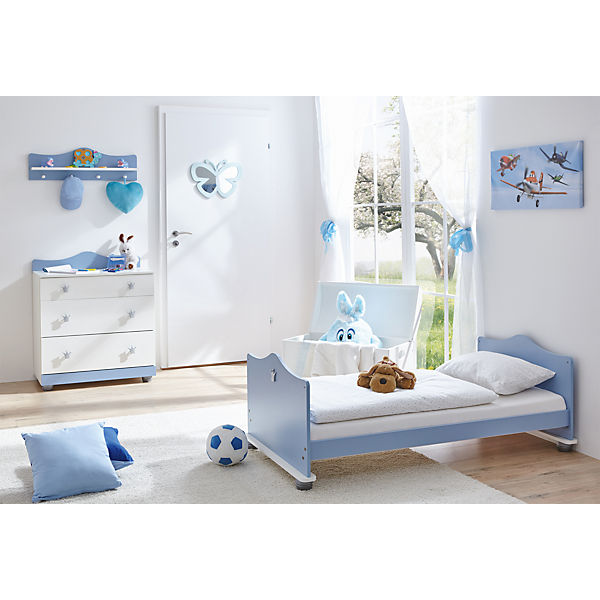 Babyzimmer Prinz, 3-tlg.(Kinderbett, Wickelkommode, Wandregal)