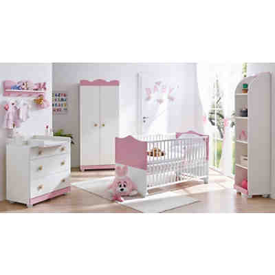 babyzimmer prinzessin 3 tlg kinderbett wickelkommode wandregal ticaa mytoys. Black Bedroom Furniture Sets. Home Design Ideas