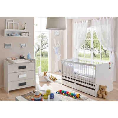 Babyzimmer paula, 3 tlg (kinderbett, schubkasten, wickelkommode ...