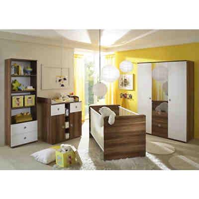Babyzimmer Nico, 4-tlg. (Kleiderschrank, Standregal, Wickelkommode ...