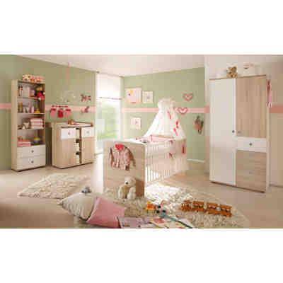 Babyzimmer nico, 4 tlg. (kleiderschrank, standregal, wickelkommode ...
