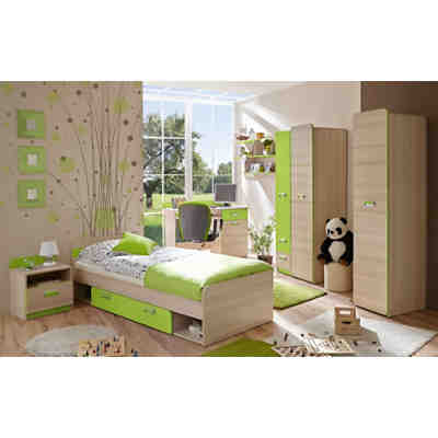komplett jugendzimmer globus 6 tlg einzelbett. Black Bedroom Furniture Sets. Home Design Ideas