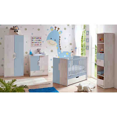 Babyzimmer prinz, 5 tlg. (kinderbett inkl. lattenrost ...